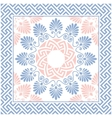 seamless Greek floral ornament Meander vector image
