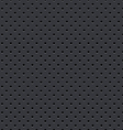 dark gray seamless perforated plate background vector image vector image