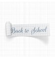 Back to School scroll paper Ribbon vector image