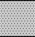 Abstract seamless pattern of lineart cubes vector image