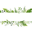 Floral greenery card design forest fern frond vector image
