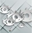 paper eyes modern design vector image