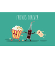 popcorn movie vector image