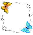 spring butterfly and winter butterfly vector image