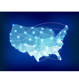 USA country map polygonal with spot lights places vector image