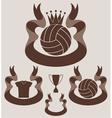 Volleybal l Vintage vector image