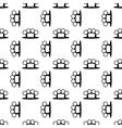 Metal Knuckles Seamless Pattern vector image vector image
