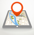 Modern gadget with abstract city map in vector image vector image