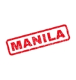 Manila Rubber Stamp vector image