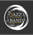jazz musical art poster template for vector image