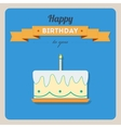 Happy birthday card with a cake and candles vector image