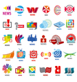 biggest collection of logos news vector image