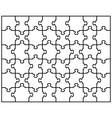 puzzle 6 vector image
