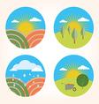 set scenes farm garden vector image