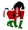 Baboon Kenya vector image