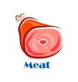 Pork or beef leg with bone vector image