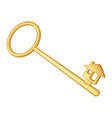 golden key vector image