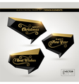 Black crystal frame set in warm golden light vector image