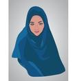 muslim girl dressed in colored hijab vector image