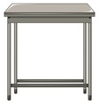 Metal table on white background vector image vector image
