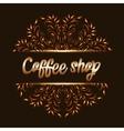 Coffee shop logo with mandala vector image