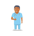 Cartoon Medical Character isolated on white vector image