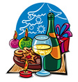 celebration the christmas vector image