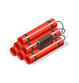dynamite bomb with digital timer vector image