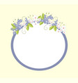 frame with flowers in bloom vector image