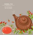 goji tea background vector image