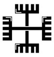 pagan ancient symbol icon simple style vector image