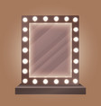 Realistic makeup mirror with bulbs vector image
