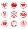 Red valentines day icons vector image