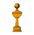 trophy golf icon image vector image