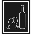 wine cover vector image