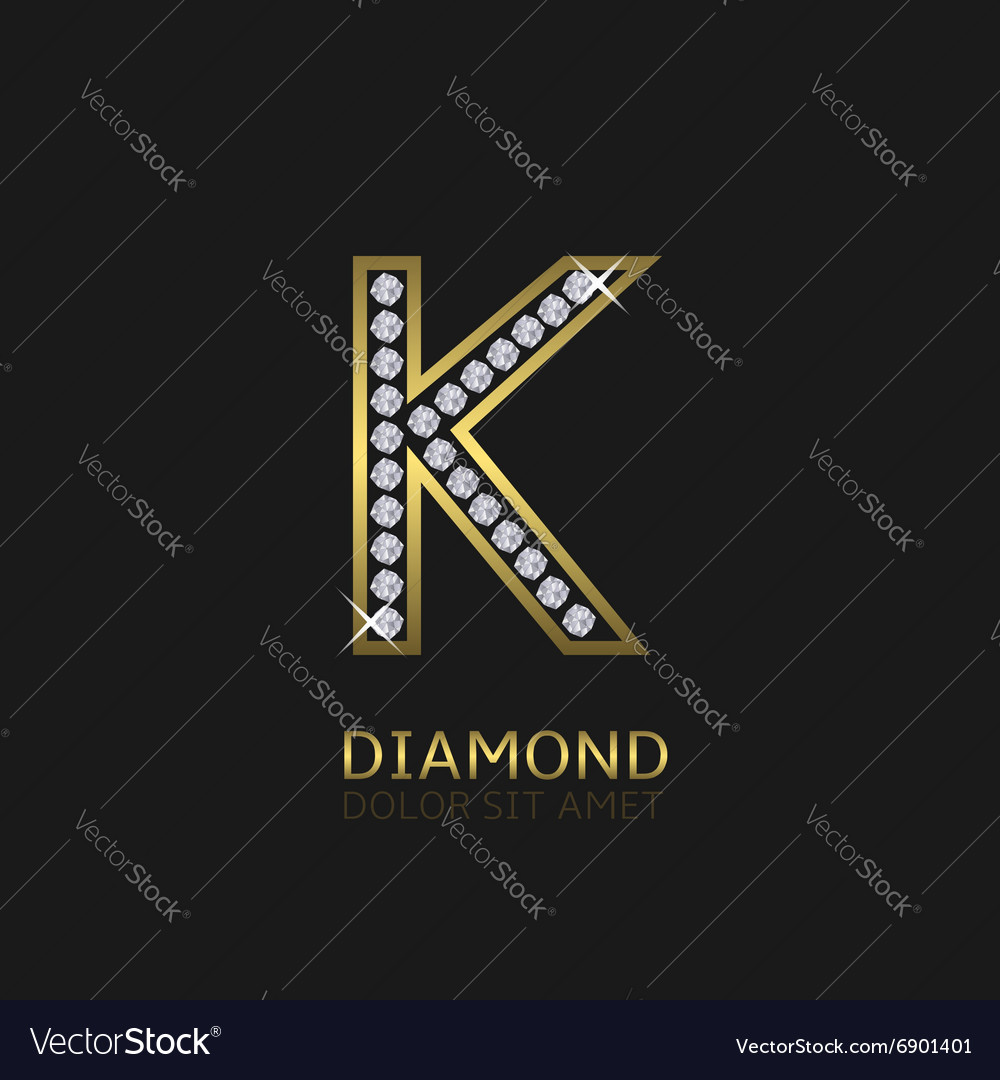 Golden letter k vector