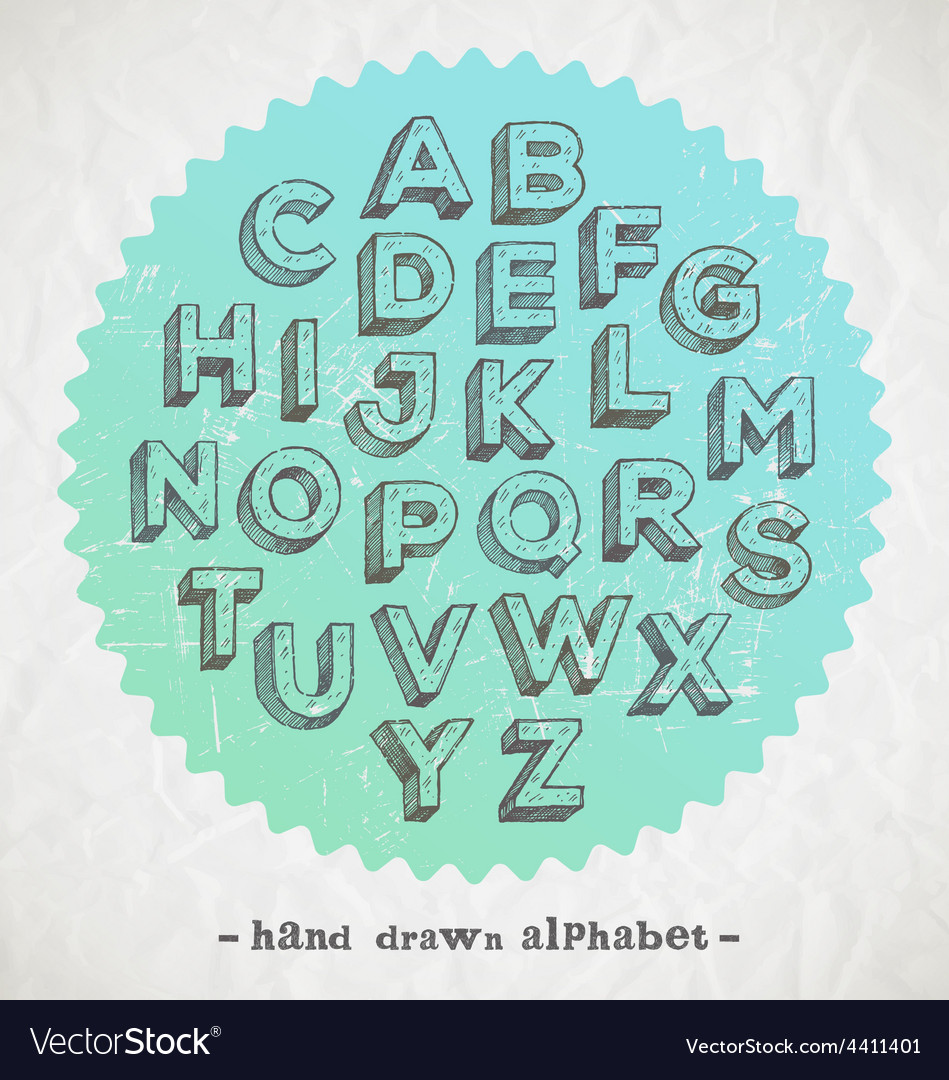 Hand drawn fonts vector