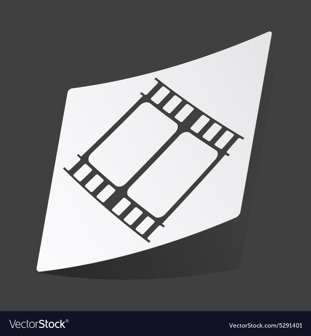 Monochrome movie sticker vector