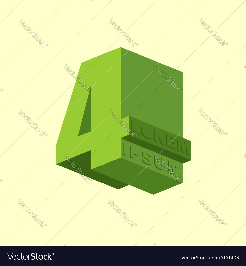 4 number four logo of figure four design template vector