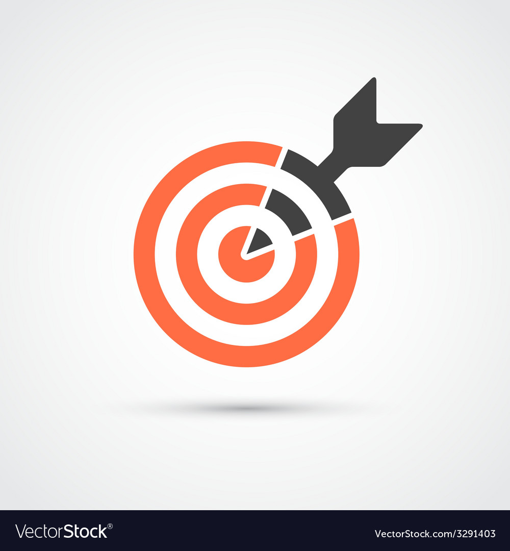 Target icon for business or sport vector
