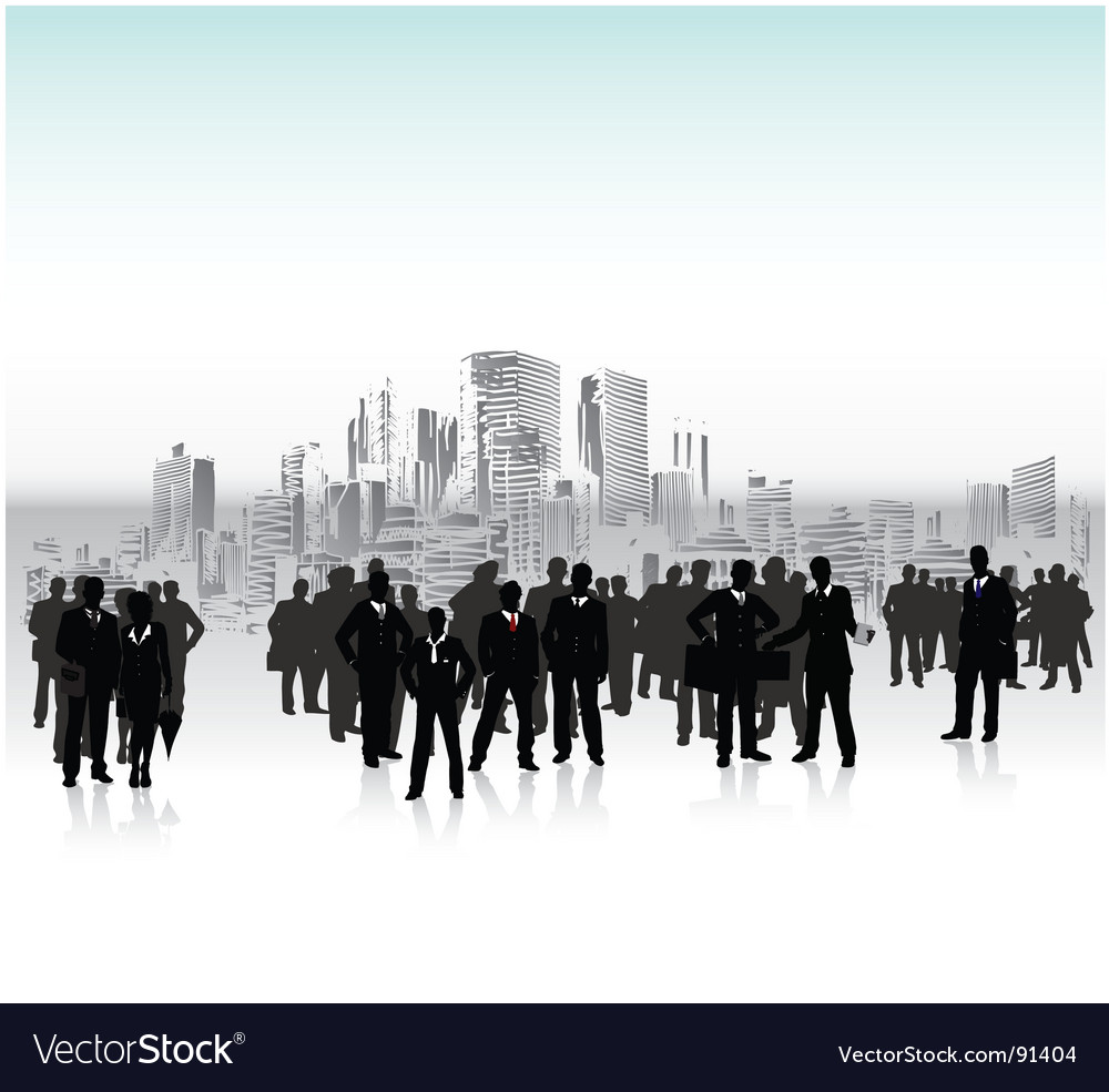 Urban crowd vector