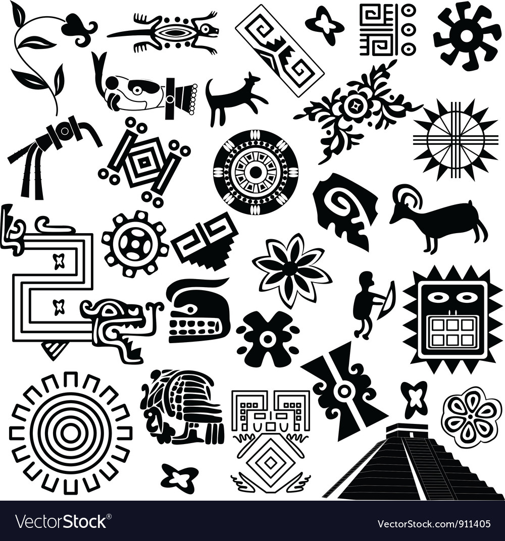 Ancient america set small vector