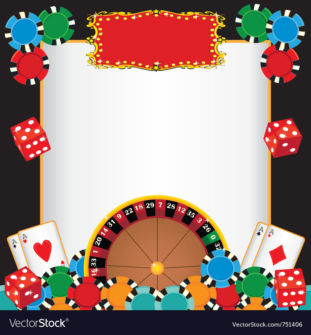 Casino night party vector
