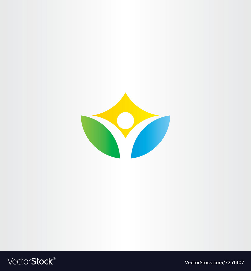 Healthy yoga man icon logo vector