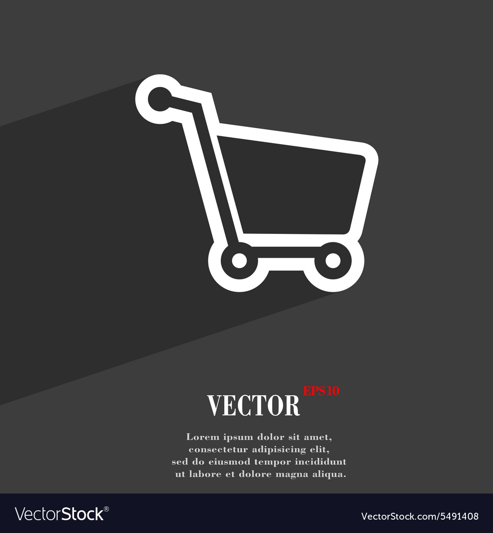 Shopping cart icon symbol flat modern web design vector