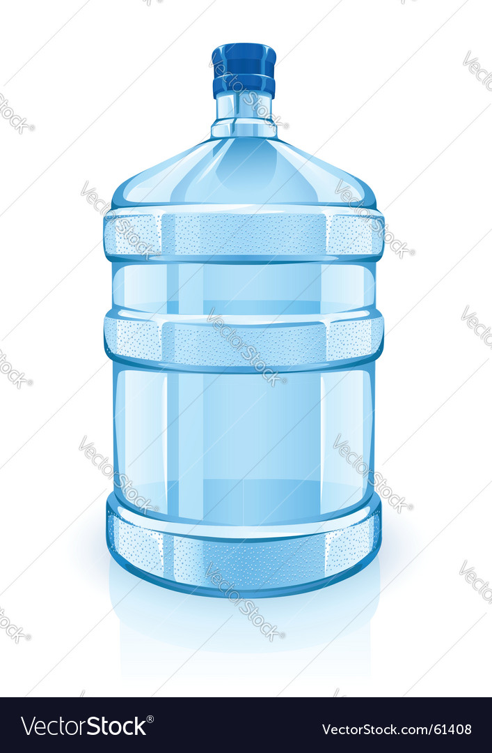 Water cooler bottle vector