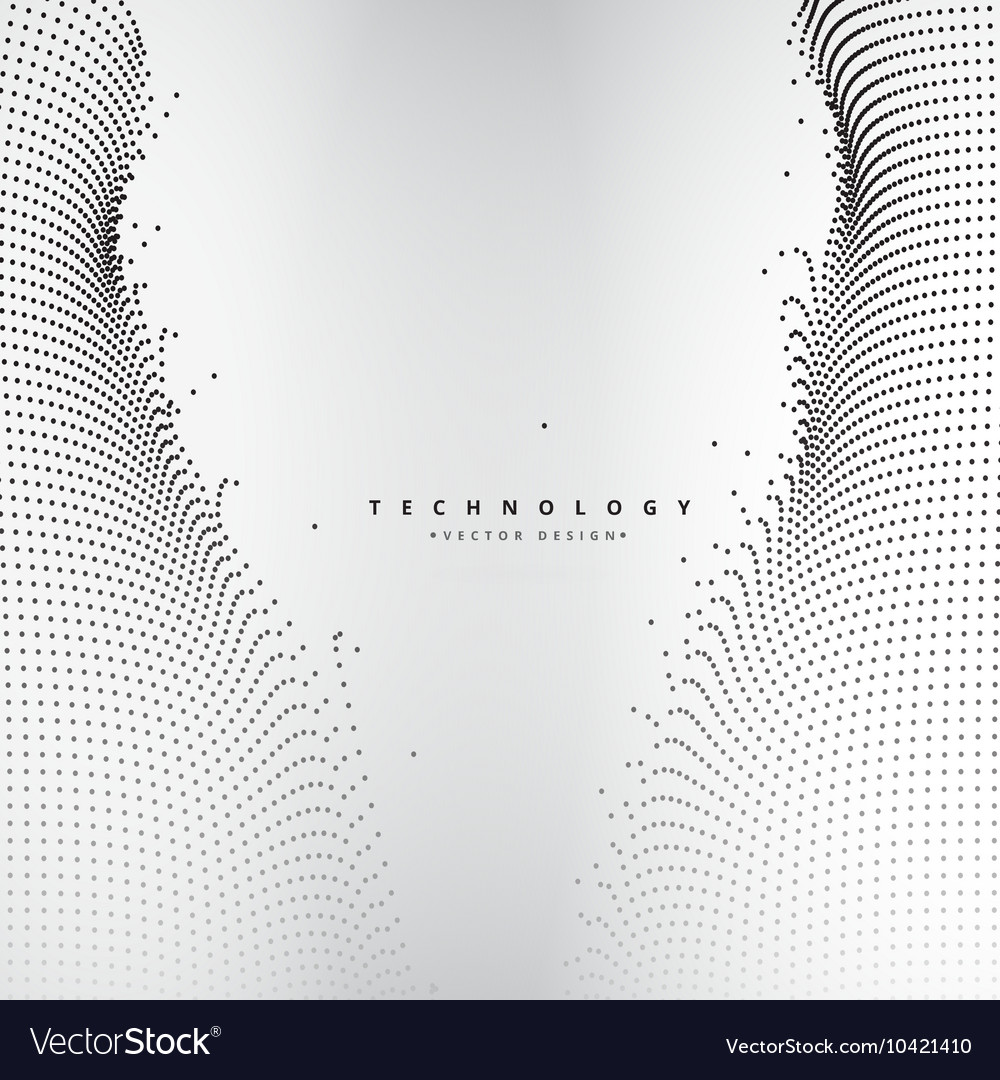 Abstract technology dots mesh vector