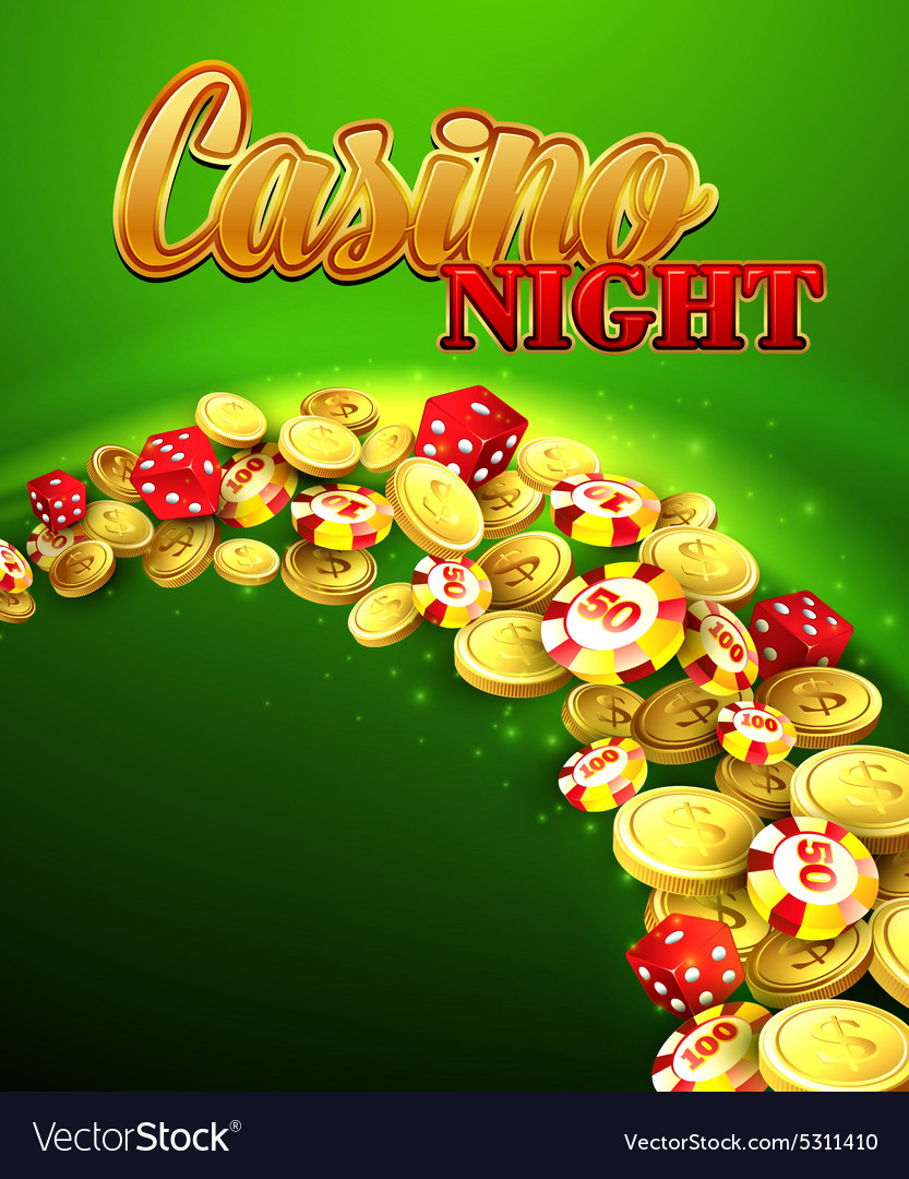 Casino night with roulette vector