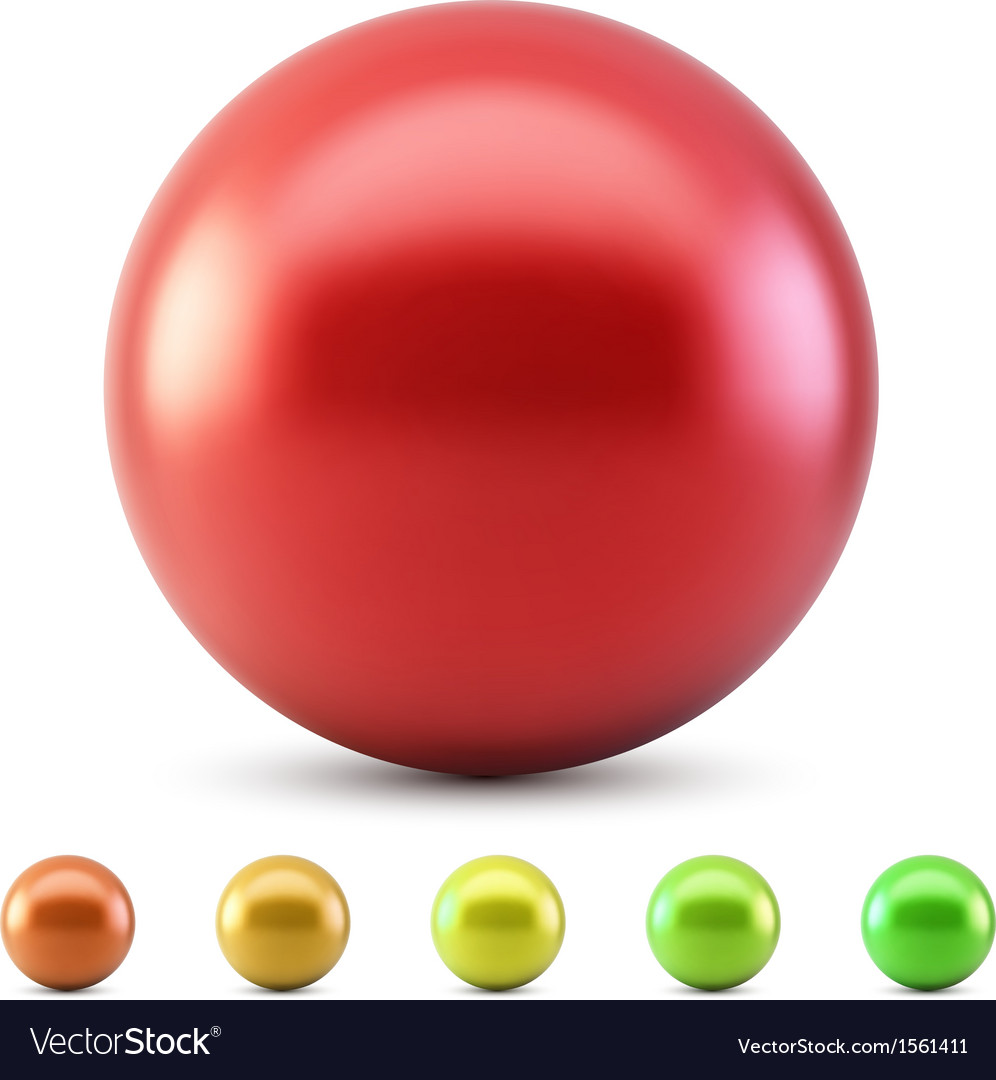 Red glossy ball vector