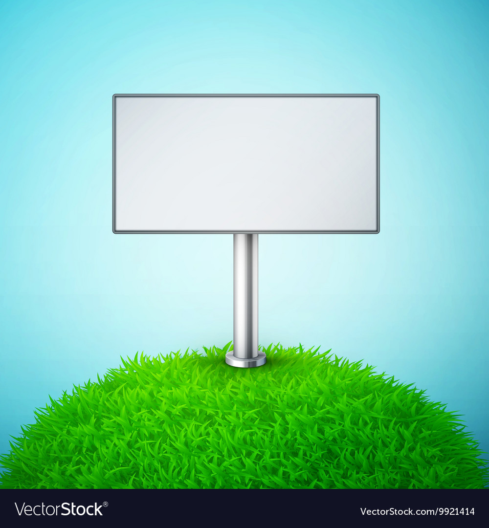 Billboard on the grass vector